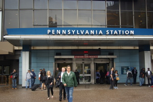 Photo of NY Penn Station entrance