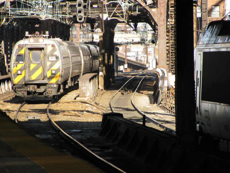 Photo of NJT train on drawbridge